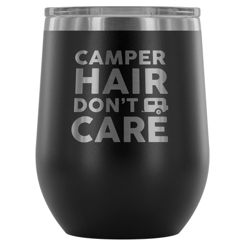 Women Who RV - Camper Hair... 12oz Insulated Wine Tumbler (Additional Colors Available)