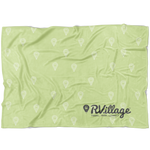 RVillage Super Soft Fleece Blanket - Green (3 Sizes Available)