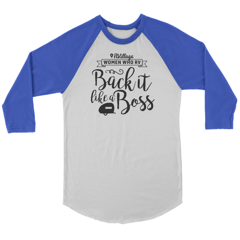 Women Who RV - Back It Like... Unisex Raglan Tee (Additional Colors Available)