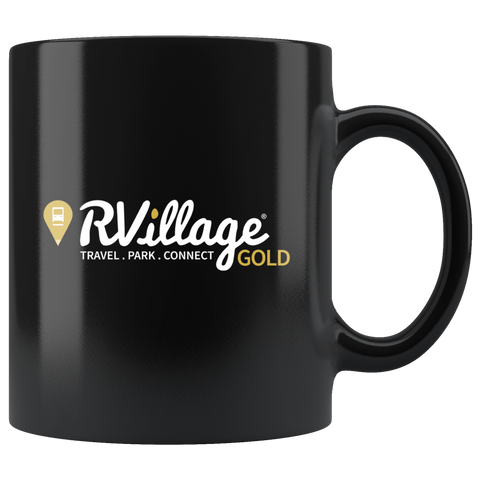 GOLD Level Member 11oz Black Coffee Mug