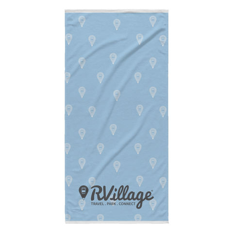 RVillage Beach Towel (Blue)