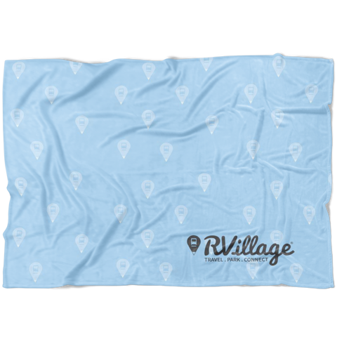 RVillage Super Soft Fleece Blanket - Blue (3 Sizes Available)