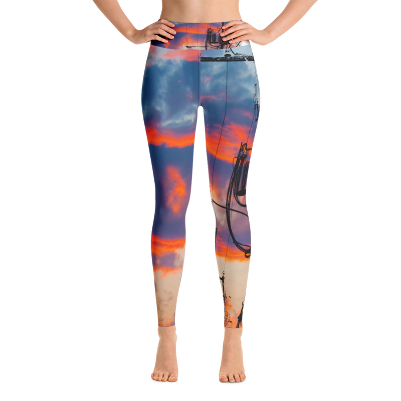Golden Light Yoga Leggings