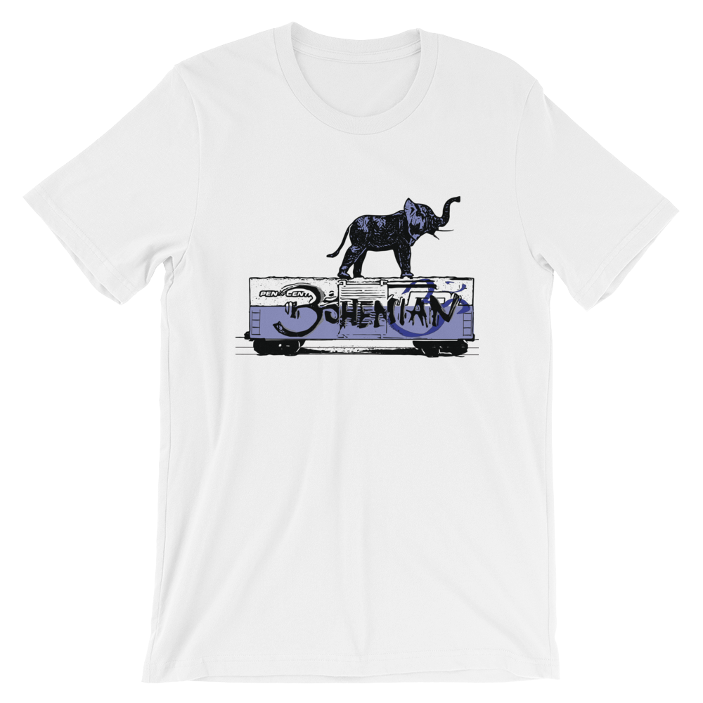 Elephant Train Ride - Short-Sleeve Unisex T-Shirt