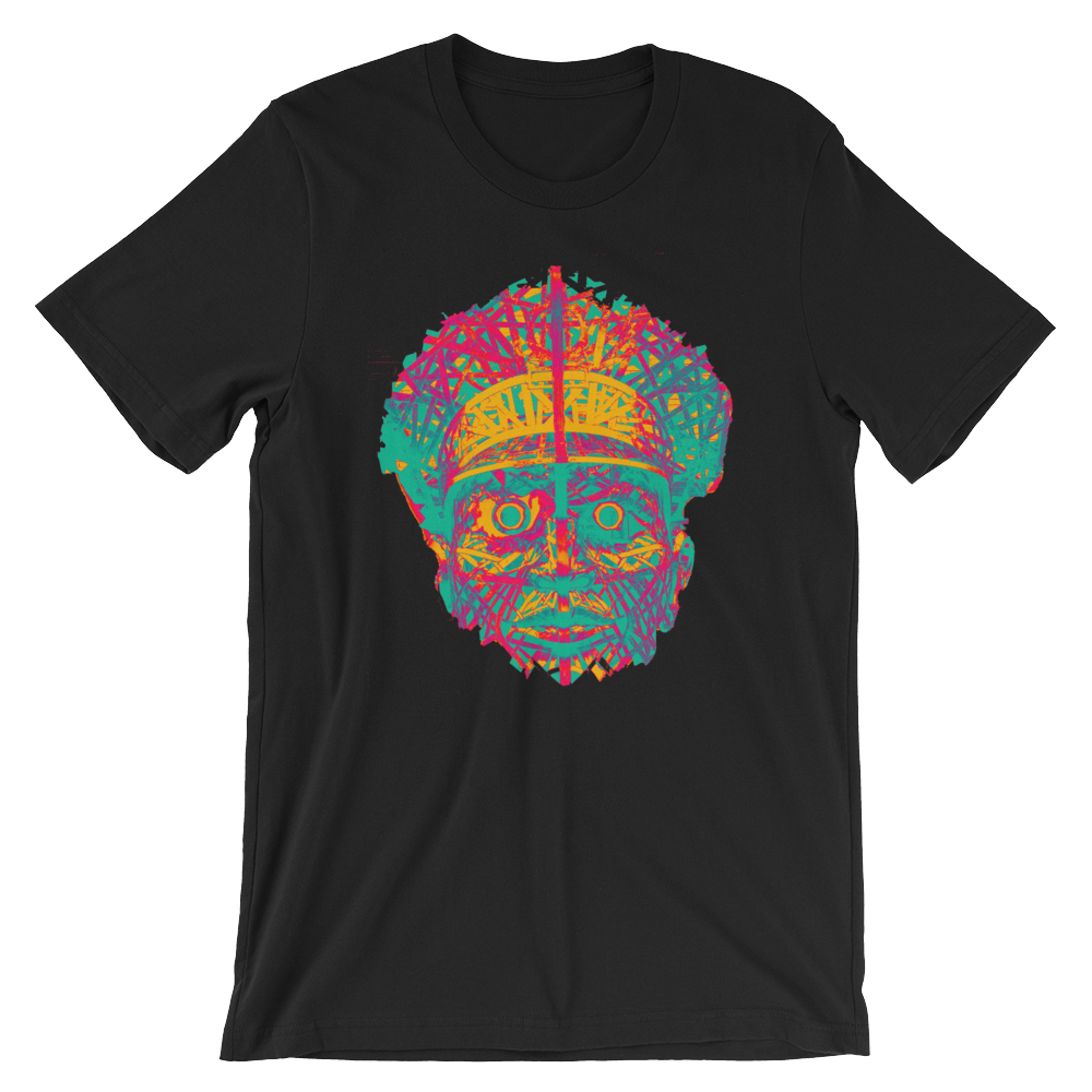 Officer Fright in Yellow Magenta Violet Teal Short-Sleeve Unisex T-Shirt