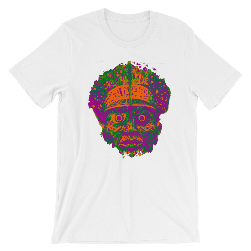 Officer Fright- Orange Violet Green Short-Sleeve Unisex T-Shirt