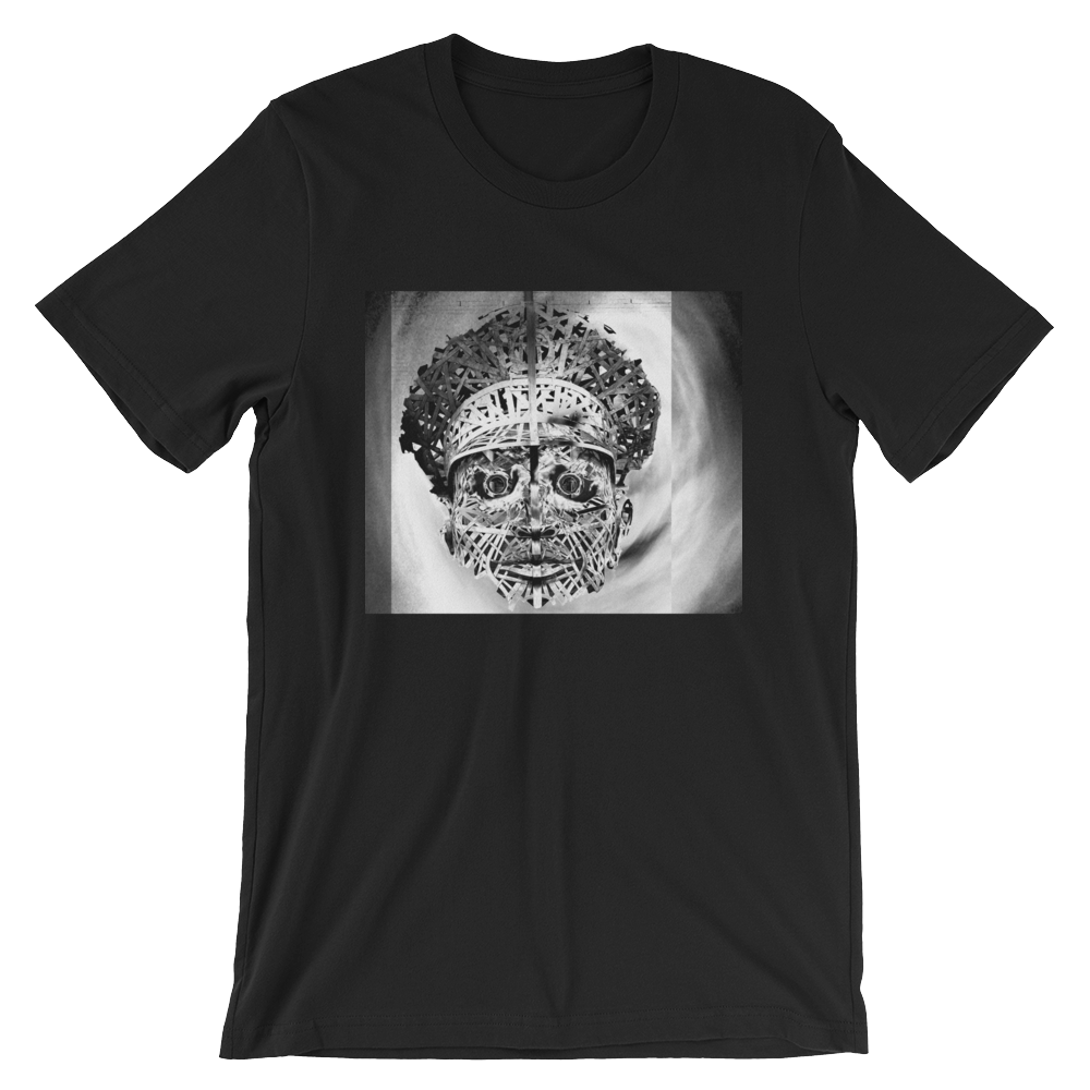 Officer Fright- B/W on Black Short-Sleeve Unisex T-Shirt