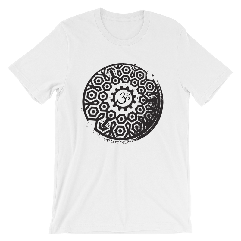 Om Manhole Cover Short-Sleeve Unisex T-Shirt