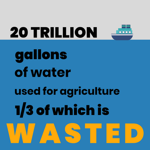 water waste statistics, food waste infographics