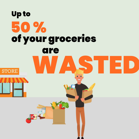 food waste, groceries wasted, food waste infographic