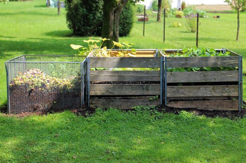bin compost, compost piles, how-to three bin compost, pros cons three-bin compost, easy compost, three-bin compost instructions