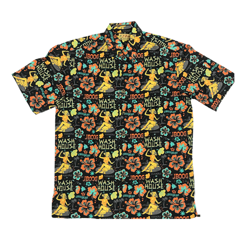 Aloha Button Up (Black)