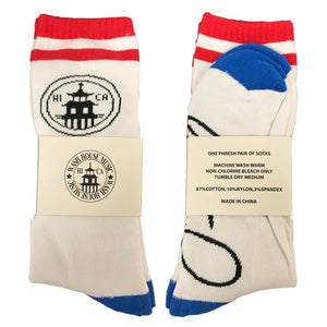 Signature Socks - Red & Blue