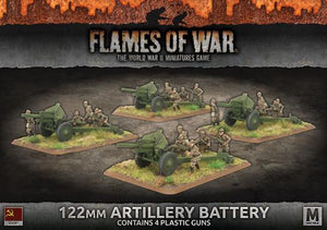 122mm ARTILLERY BATTERY (4 x plastic)