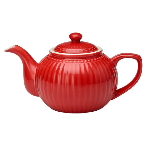 Theepot Alice red