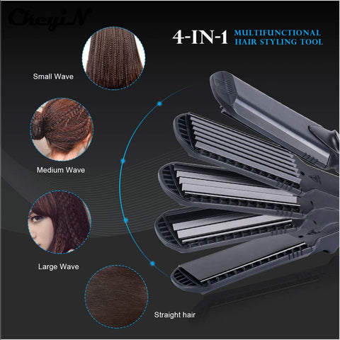 Hair Straightener &Corn Wide Wave Plate 4 style Interchangeable