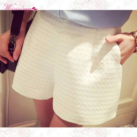 Casual Solid short High Waist
