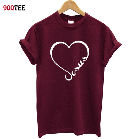 Love Heart Jesus Faith T Shirt