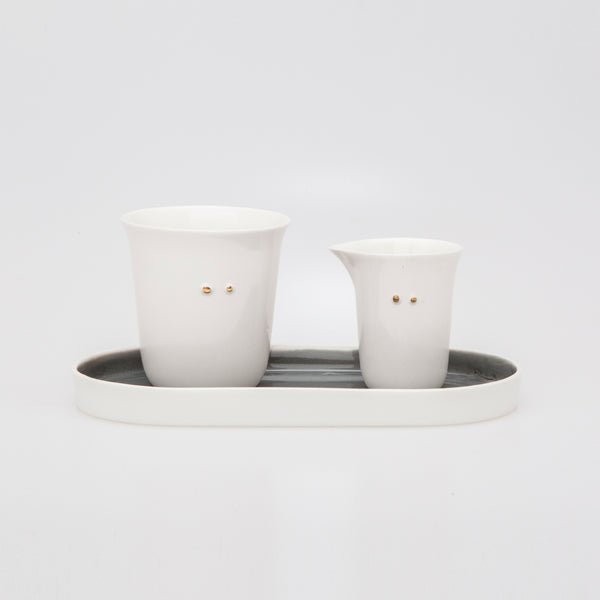 JOY I coffee set with cup and milk jug