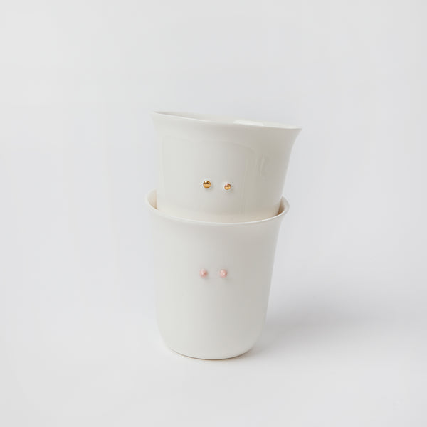 set of 2 cups with dots