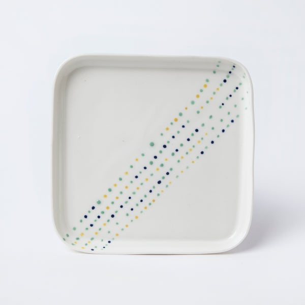 square plate with tiny dots
