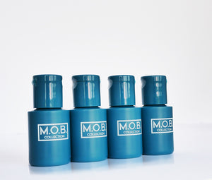 Take M.O.B. Collection Looking Fresh travel bottles on the go from business trips and on holiday or to festivals and the gym
