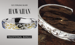 Silver Hawaiian Bangle