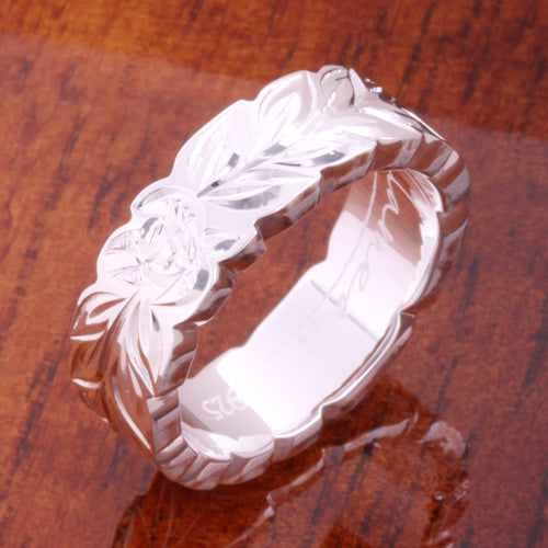 silver hawaiian ring scroll ring hawaiian heirloom ring