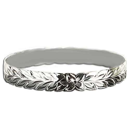 Hawaiian Jewelry Maile Cut Out One Tone Baby Bangle