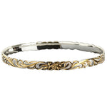 Hawaiian Jewelry Queen Cut Out Two Tone Baby Bangle