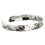 Hawaiian Jewelry Scroll Cut Out One Tone Cuff Bangle
