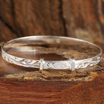 Sterling Silver Handcrafted Scroll Baby Bangle
