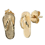 14K Yellow Gold Slipper(Flip Flop) Earring Stud
