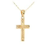 14KT Yellow Gold Scroll Cross Pendant
