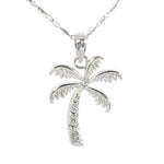 White Gold Palm Tree Pendant(S)