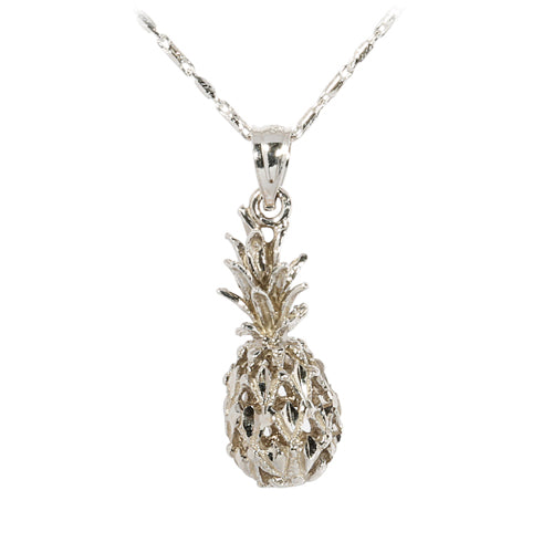 White gold Pineapple Pendant(M)