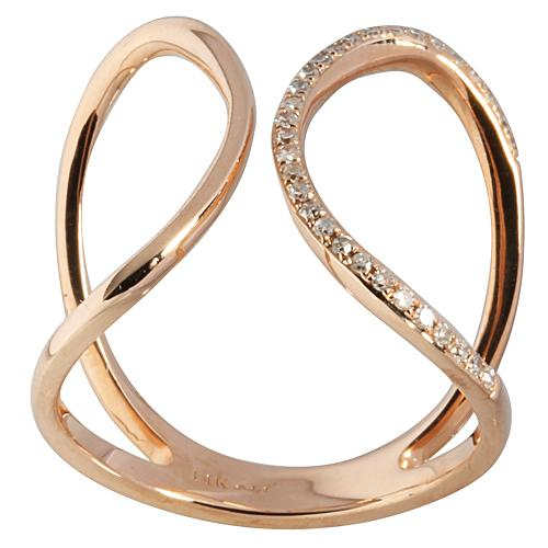 0.12 ct. t.w.  Diamond Ring in Solid 14K Pink Gold - Hanalei Jeweler