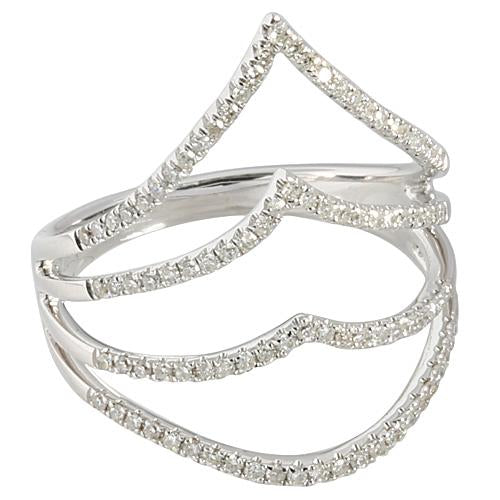 0.29 ct. t.w.  Diamond Ring in Solid 14K White Gold Crown