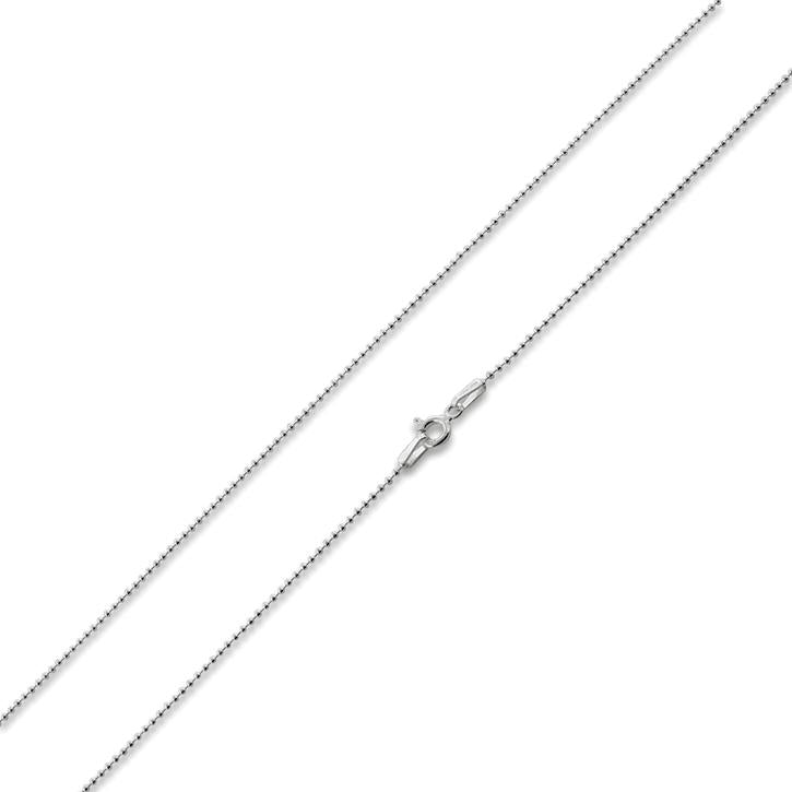 925 Sterling Silver 1.0mm Diamond Cut Bead Chain