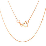 925 Sterling Silver Box Chain with 14K Pink Gold Plated