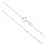 Dinmond Cut Rhodium Bead Chain 1.0mm