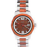 Koa Wood Stainless Steel Mechanical Watch Koa Wood Dial - Makani Hawaii Jeweler