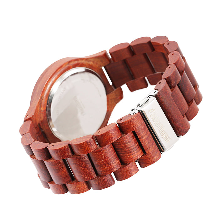 Red Sandalwood Wooden Watch Medium Size Japan Movement