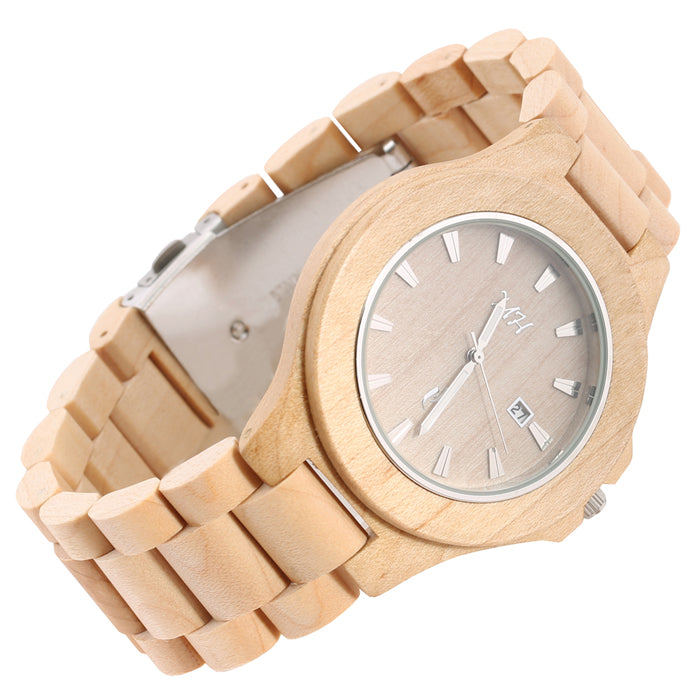 Maple Wooden Watch Medium Size Japan Movement