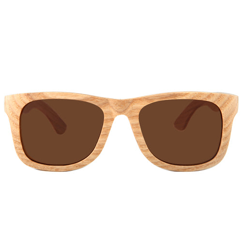 Maple Wood Sunglasses Rectangle Frame with nose