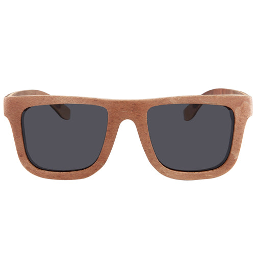 8c6c053624482 Classic Style Skateboard Wood Wooden Sunglasses Two Tone Gray Lens ...