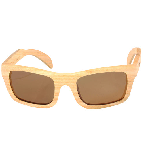 Maple Wood Sunglasses Rectangle Dome Frame