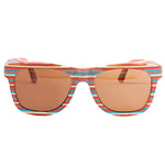 Skateboard Wood Rainbow Color Sunglasses