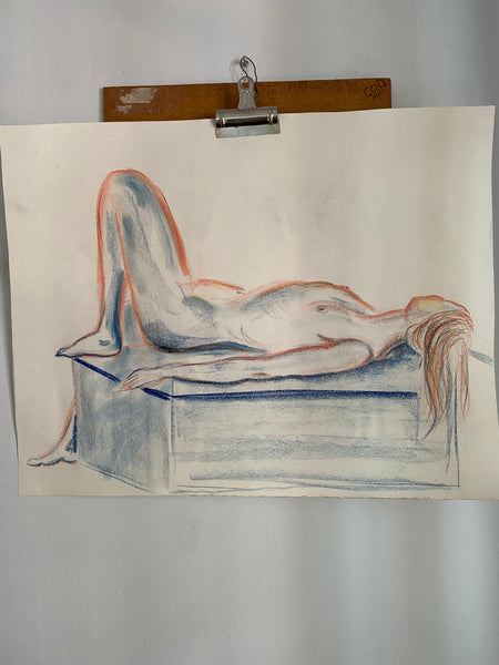 1970's Pastel Art Nude Sketches