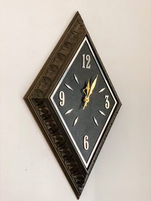 Mid Century Diamond Sunbeam Wall Clock.